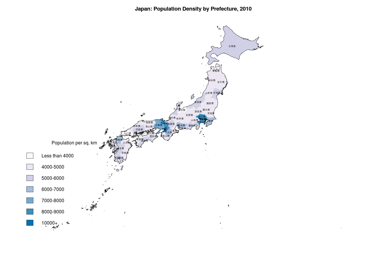 Map Of Japan With Prefectures.Map Graphics With R Gene Dan S Blog